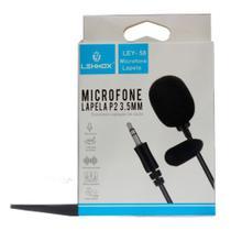 Microfone De Lapela P2 3.5mm Lehmox Captação De Áudio 360 -