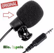 Microfone De Lapela P2 Profissional Gravação Câmera Dslr Pc Desktop Fimadoras Entrevistas Youtuber Universal Original - Leffa Shop