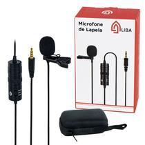 Microfone De Lapela Profissional By M-10 Celular Cam P2 P10 - LIBA
