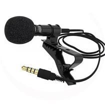 Microfone de Lapela Profissional Celular Gravaçao Audio Youtuber Jornalista Reportagem Palestra Evento Professor Smartphone - Braslu