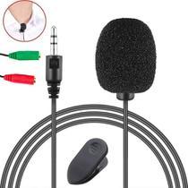 Microfone de Lapela Profissional Para Celular Smartphone Universal Para Gravar Vídeo Entrevista Vlog Youtuber Pc Desktop - Leffa Shop