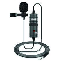 Microfone de Lapela Universal Vokal SLM10 Omnidirecional com Bag e Acessórios -
