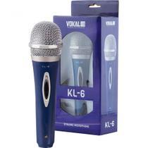 Microfone de Mão com Fio Vokal KL-6 Acompanha Cabo -