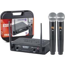 Microfone de Mão Duplo Sem Fio - DVS100DM - Vokal -