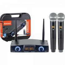 Microfone de Mão Duplo sem Fio KRD200DM KARSECT -