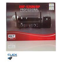 Microfone de mao e headset/lapela uhf-526m/bp sem fio profissional - Mxt