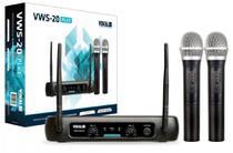 Microfone de Mão sem Fio Duplo Vokal VWS20 Plus -