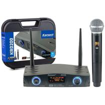 Microfone Dinâmico sem Fio Karsect KRD200SM UHF 16 Frequências - Bivolt -