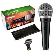 Microfone Dinâmico Shure PGA48-LC com Fio Cardióide -