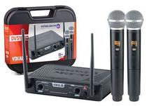 Microfone Duplo Sem Fio Profissional Uhf Vokal DVS100DM -