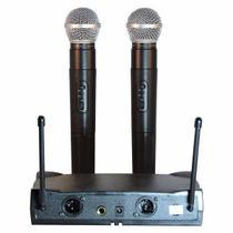 Microfone duplo sem fio uhf wirelees le-906 - Kadosh