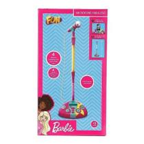 Microfone Fabuloso Barbie Com Funcao Mp3 Player 80070 Fun -
