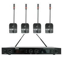Microfone Gooseneck Sem Fio CSR 840B 4 Microfones -