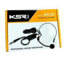 Microfone Headset cabeça Com Fio Ksr Pro Kh20 p10 auricular -