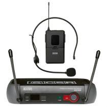 Microfone Headset Sem Fio Com Receptor Uhf Csr X888 Hd -