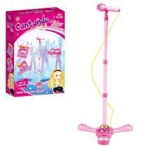 Microfone Infantil Amplificador E Pedestal Com Luz E Som - Artbrink