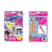 Microfone Infantil Barbie Rockstar FUN F0020-0 -