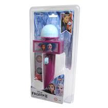 Microfone Infantil com Eco e Luz Roxo Disney Frozen - Toyng -