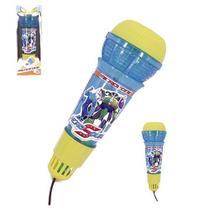 Microfone Infantil Com Eco Hero Squad Colors + Luz A Bateria Na Caixa Wellkids - Wellmix