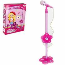Microfone Infantil Com Pedestal Glam Girls Wellmix - Well kids