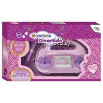 Microfone infantil karaokê caixa de som com luz e acessórios - Wellmix
