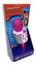 Microfone Infantil Karaokê Show Com Bluetooth Conecta A Pendrive Rosa- Toyng -