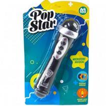 Microfone infantil musical pop star com som luz e musicas karaoke brinquedo crianca - GIMP