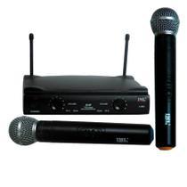Microfone JWL Duplo De Mão Sem Fio -