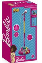 Microfone Karaoke Fabuloso Da Barbie com pé ajustável - Fun 7898039603964 -