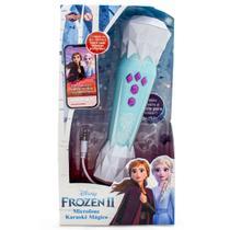 Microfone Karaokê Mágico Frozen 2 com Música - Toyng -