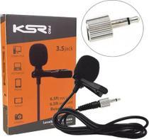 Microfone Lapela Ksr LT2a P2 Rosca Interna serve Karsect lt4a -