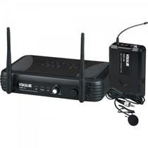 Microfone Lapela UHF VWR-15 Preto VOKAL -