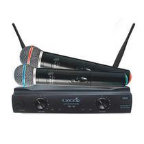 Microfone lyco uh02mm s/fio de mao uhf duplo -