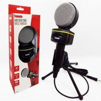 Microfone Multimídia Para Pc Gravar Video Youtuber Com Tripe MTG-1021 - Tomate