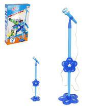 Microfone Musical Infantil Com Pedestal Hero Squad 106Cm A Pilha Na Caixa Wellkids - Wellmix