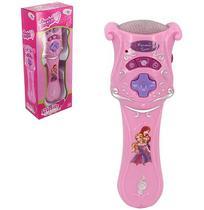 Microfone musical infantil magico glam girl com luz a pilha na caixa wellkids - Wellmix