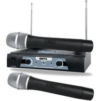 Microfone Onyx Sem Fio Tk-v202 Vhf -