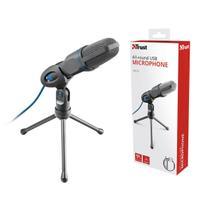 Microfone Para Pc e Notebook  Microfone 23790 Mico Com Tripe e Conector Usb - Trust