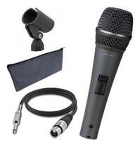 Microfone Profissional C/ Cabo Para Igreja Voz Vokal Mc30 -
