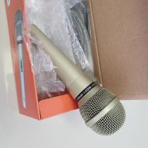 Microfone Profissional dinâmico - dourado - MUD515 - Marca Sukram. -