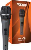 Microfone Profissional Dinâmico Vokal Mc30 Cabo + Cachimbo -