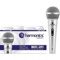Microfone Profissional MDC201 Dinâmico Supercardióide Prata Harmonics -