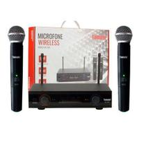 Microfone Profissional Wireless Sem Fio 60 Metros Duplo Uhf Tomate MT- 2207 -