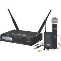 Microfone s/ Fio Headset Lapela Mão UHXPRO02 MHLI Lyco -