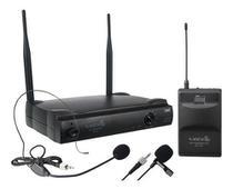 Microfone S/ Fio Headset + Lapela + Trans. Lyco Uh01hli Uhf -