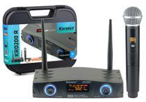 Microfone s/fio karsect krd200r single mao recarregavel -