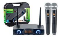 Microfone sem Fio de Mão Duplo Karsect KRD200DR Recarregável -