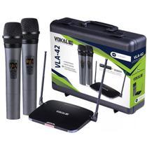 Microfone sem Fio de Mão Duplo Vokal VLA42 UHF -