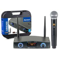 Microfone Sem Fio Digital Karsect KRD200SM Single Mão Profissional -