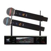 Microfone Sem Fio Digital TSI 900 UHF Duplo Profissional -